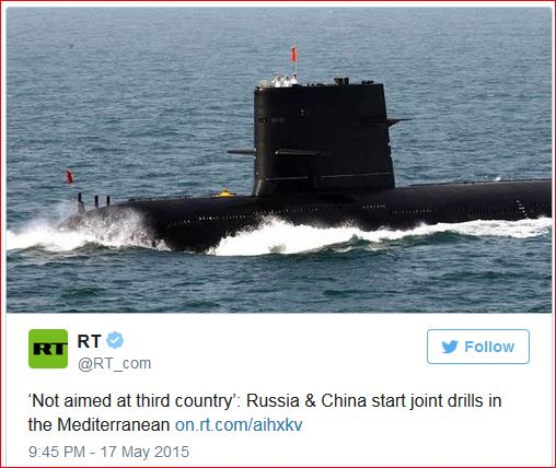 Russia & China start joint drills in the Mediterranean