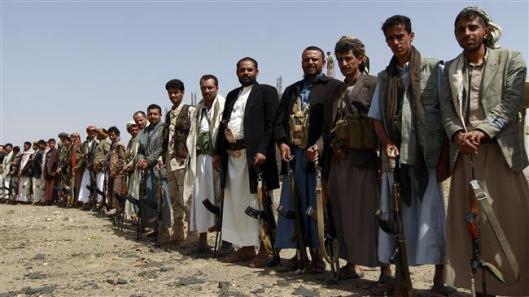 Tribal fighters loyal to the Houthi movement
