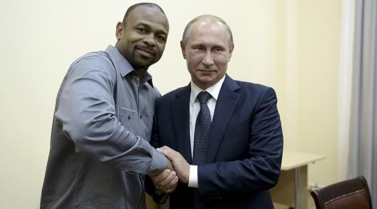 Vladimir Putin-boxer Roy Jones