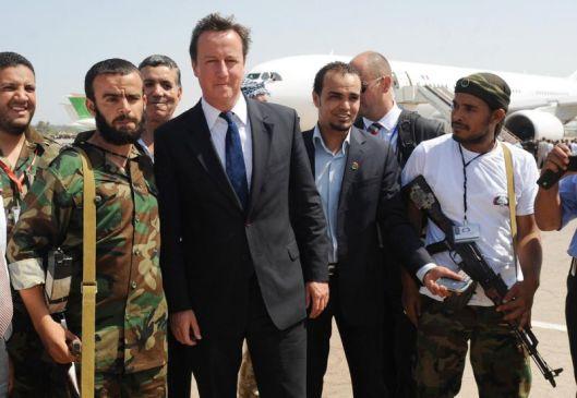 british-prime-minister-david-cameron-poses-with-natos-mercenary-terrorists-benghazi-airport-15-september-2011