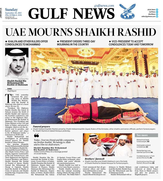 son of prime minister of united arab emirates killed in