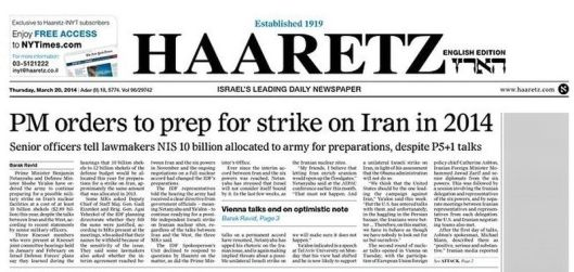 Haaretz, 20 March 2014