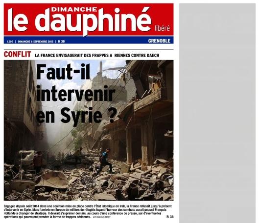 Le Dauphine Libere 6 septembre 2015