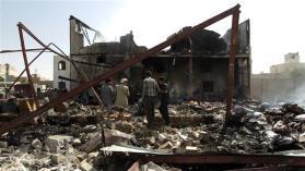 Saudi airstrikes in the Yemen