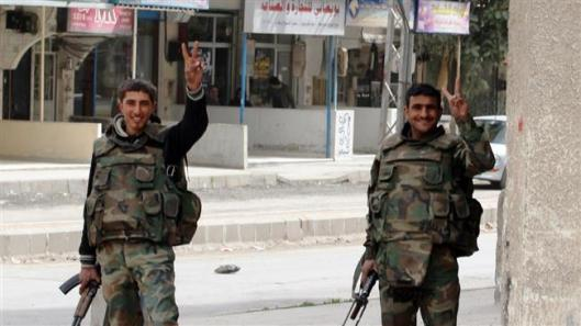 Syria army clears Damascus-Homs routes