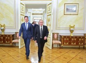 President Vladimir Putin and President Bashar Assad-20151020