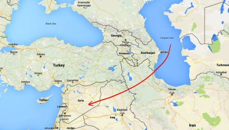 Russian warships missiles against DAESH from Caspian sea