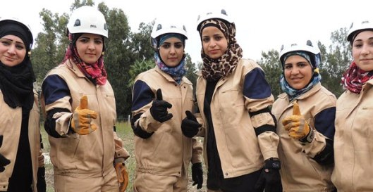 The friendly face of the White Helmets, a propaganda group linked to al-Nusra. Photo: Mint News