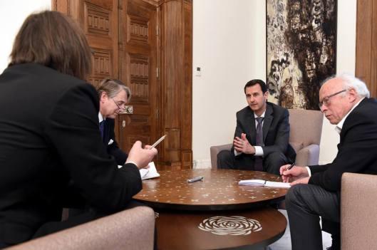 President al-Assad to French magazine Valeurs Actuelles-1
