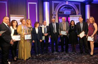 Syrian Information Minister Omran al-Zoubi honors journalists (13)