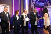 Syrian Information Minister Omran al-Zoubi honors journalists (3)