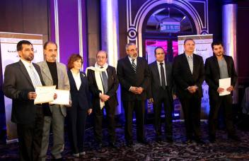 Syrian Information Minister Omran al-Zoubi honors journalists (6)