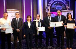 Syrian Information Minister Omran al-Zoubi honors journalists (7)