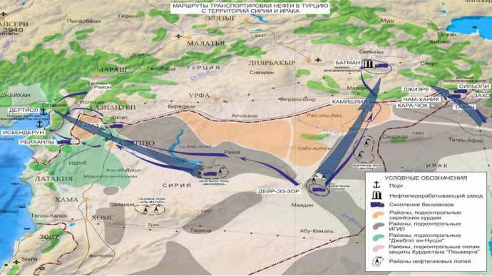 © syria.mil.ru turkey smuggling isis oil map