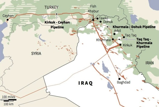 iraq turkey kurdistan oil pipelines-911