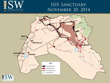 ISIS Map November 20