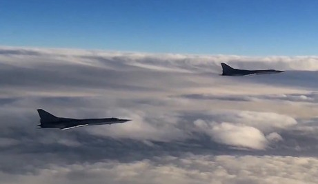 Russian Tu-22 MZ strategic bombers