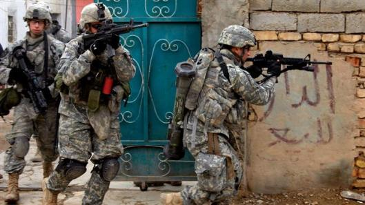 US soldiers during an operation in Iraq