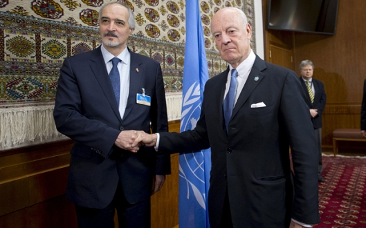 de Mistura stressed the need for a political process led by Syrians