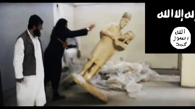 SIL militants destroy ancient artifacts of Mosul Museum
