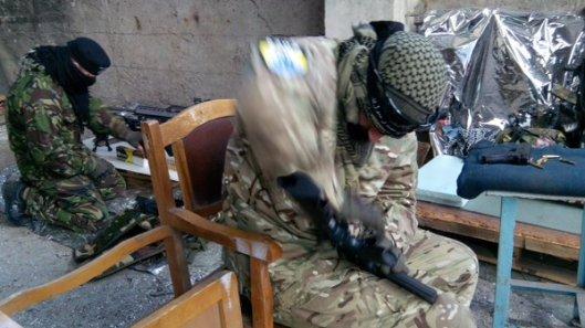 NATO-puppet Azov Battalion Wears Daesh Insignia-8