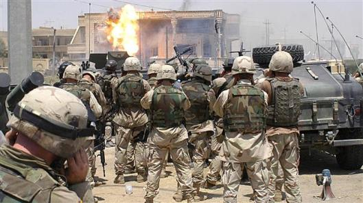 Special Forces of Task Force 20 in Mosul during Uday and Qusay's last stand in 2003. (Wikipedia)