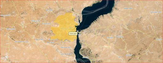 Tishrin Dam-map