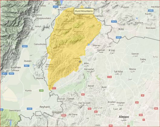 Kurd=mountains-to-Afrin-valley-to-Aleppo
