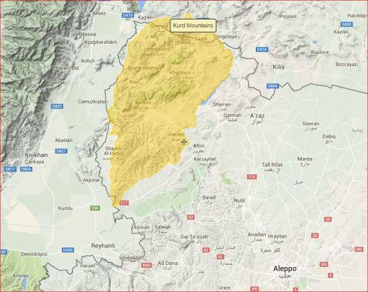 Kurd=mountains-to-Afrin-valley-to-Aleppo