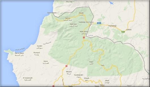 lattakia-Turkish border