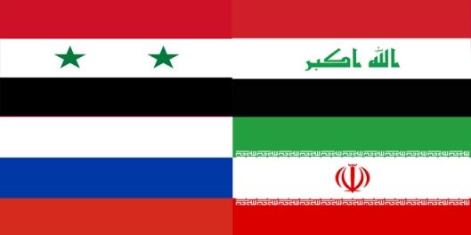 シリア - ロシア語 - イラク・イラン・フラグ