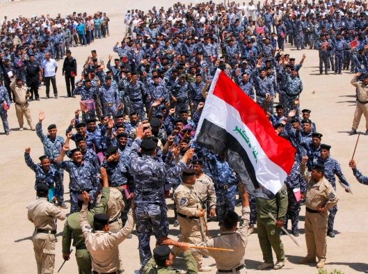 Volunteers, who have joined Iraqi security forces to fight against