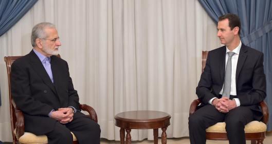 Bashar-alAssad-with-Kamal Kharrazi-2