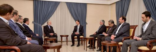 Bashar-alAssad-with-Kamal Kharrazi-3