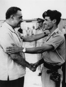 Libya-Gaddaffi-with-Nasser