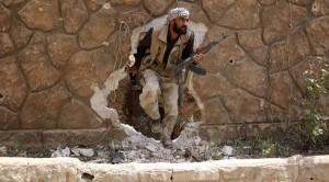 A Jaysh al-Islam terrorist © Amer Almohibany - Reuters
