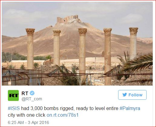 DAESH had 3000 bombs to level Palmyra