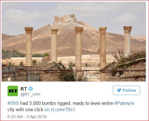DAESH had 3000 bombs to level Palmyra