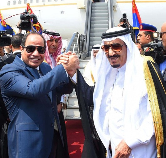 Egyptian President Abdel-Fattah el-Sissi and Saudi King Salman