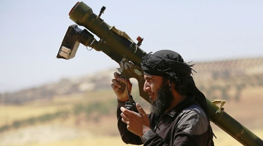 'moderate terrorist' in Syria with American made Manpad