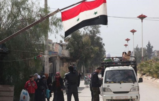 Raqqa's Residents in Syria Rebel Against ISIS Terrorists,Flown Syria's Flags