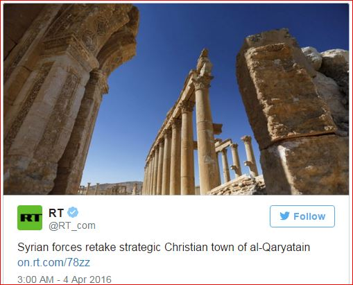 Syrian forces retake strategic Christian town of al-Qaryatain