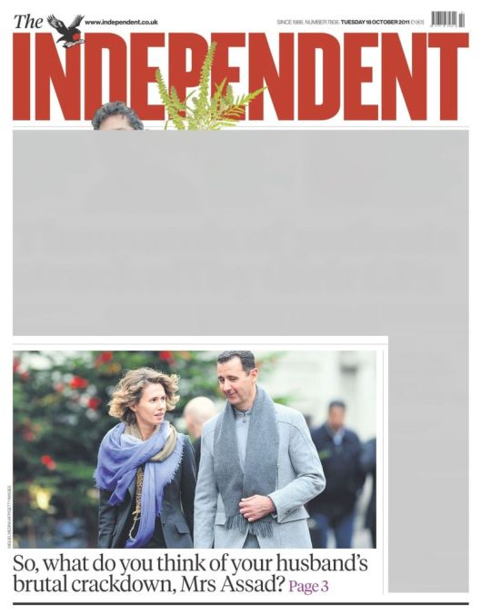 the-independent-18-october-2011