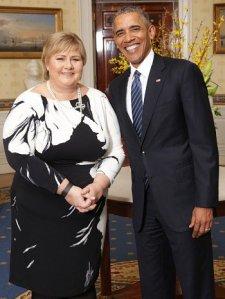 barak obama-with-erna-solberg