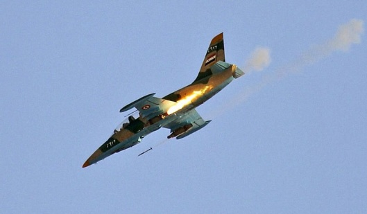 Syrian Air Force-firing-rocket-rh