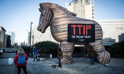 Protest against TTIP