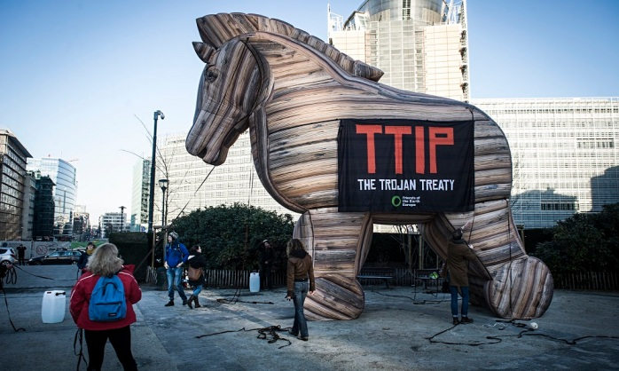 Protest against TTIP