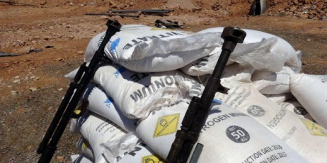 weapons-seized-ammonium-nitrate-terrorists-Aleppo-Hama-1