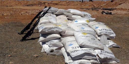weapons-seized-ammonium-nitrate-terrorists-Aleppo-Hama-2