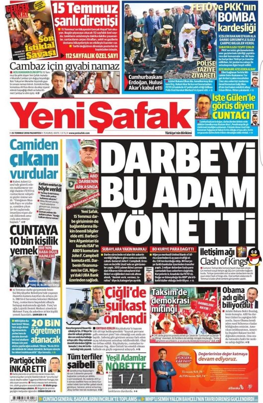 Islamist paper headline targets US commander